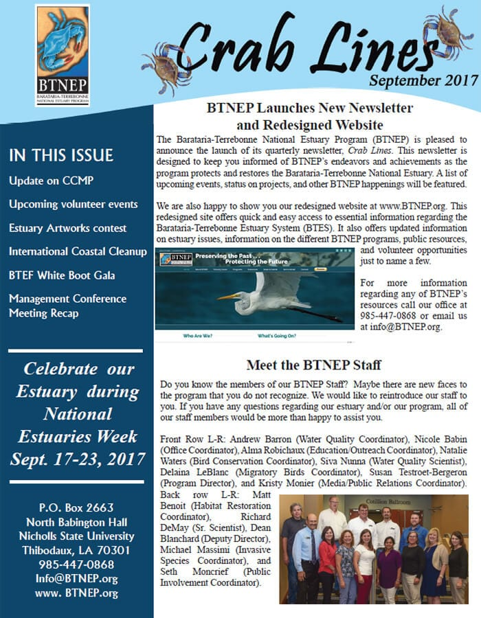 Click here to read the newsletter